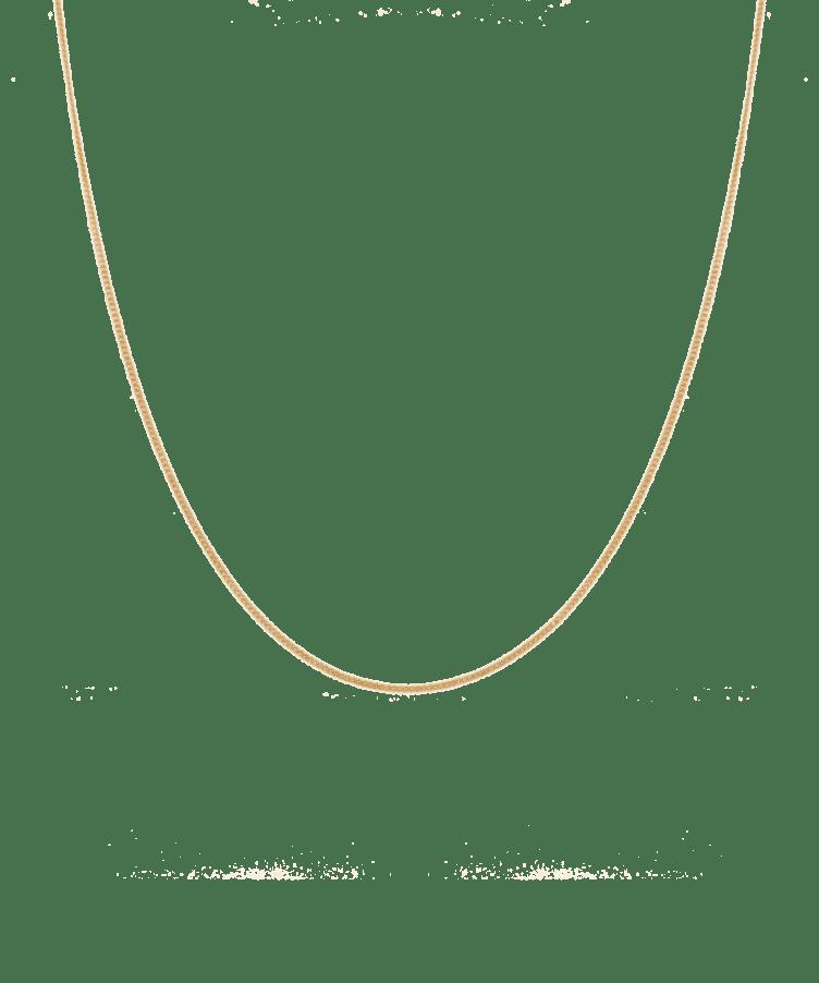 Delicate Necklace-Solid 14K Rose Gold-Large: 50 CM