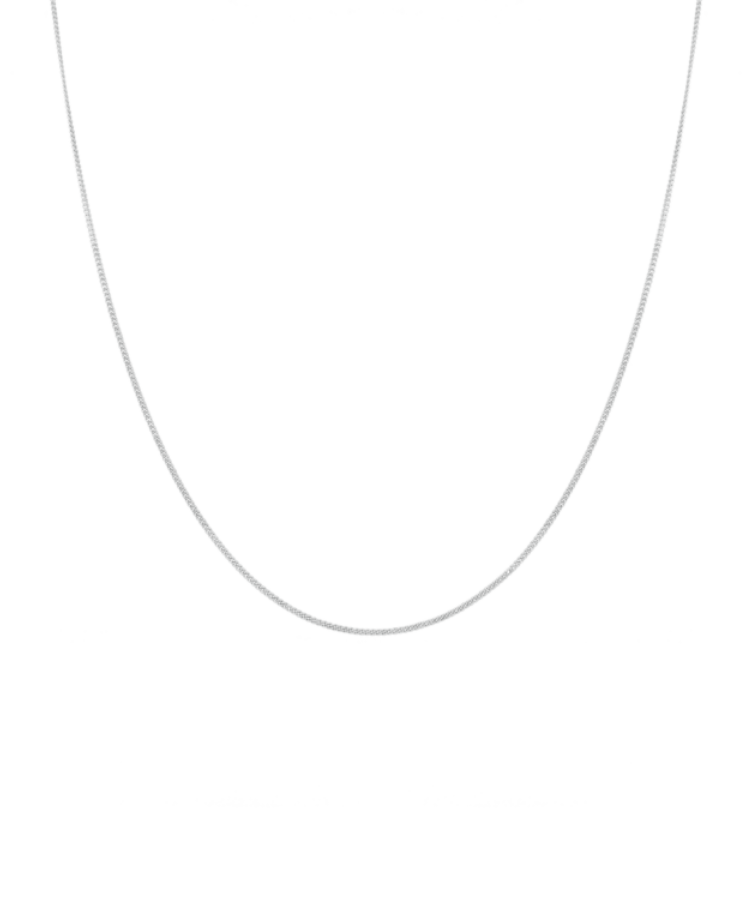 Delicate Necklace-Solid 14K White Gold-Large: 50 CM