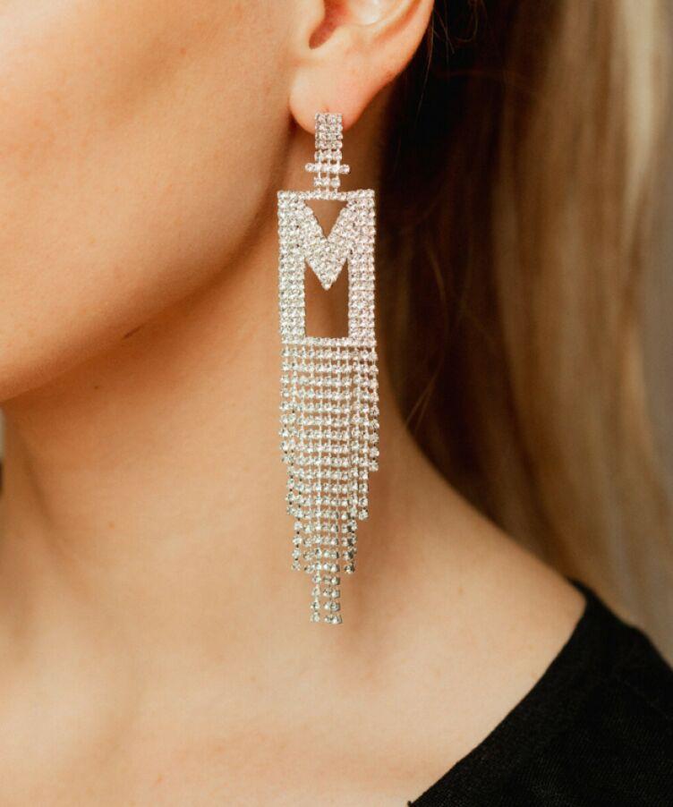Double Festive Letter Earring