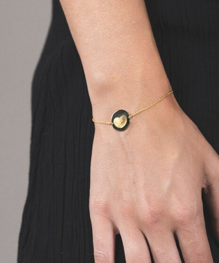 Fingerprint Coin Bracelet