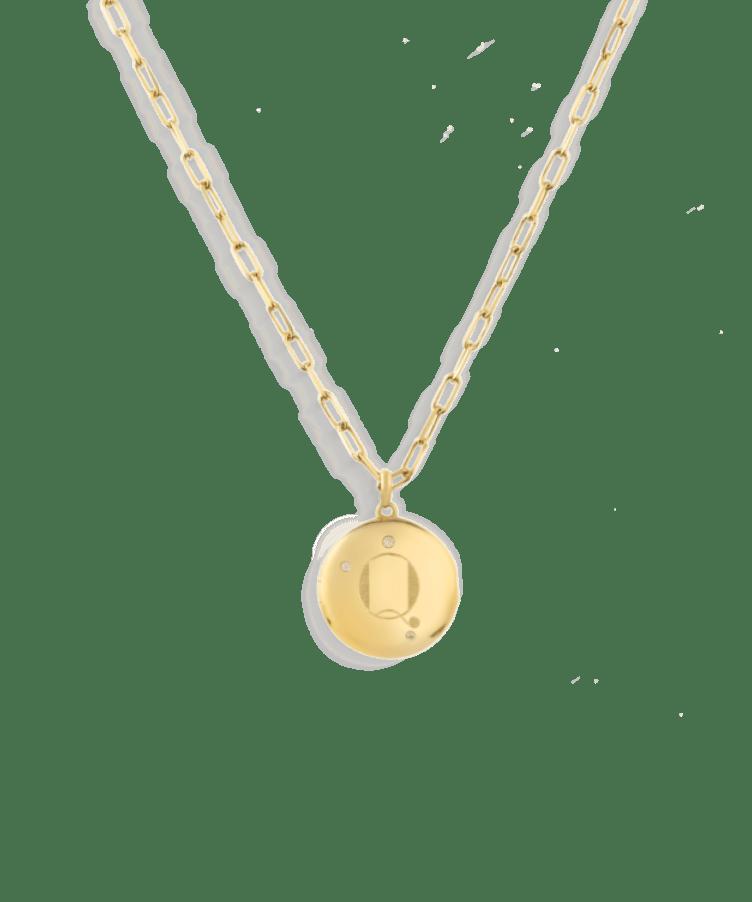 Frida Locket Necklace-Plated -Medium: 45 CM-Z