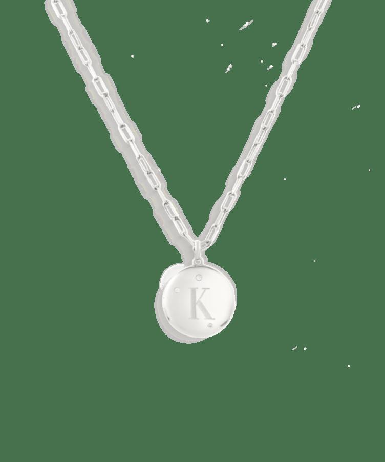 Frida Locket Necklace-925 Sterling Silver-Medium: 45 CM-Z
