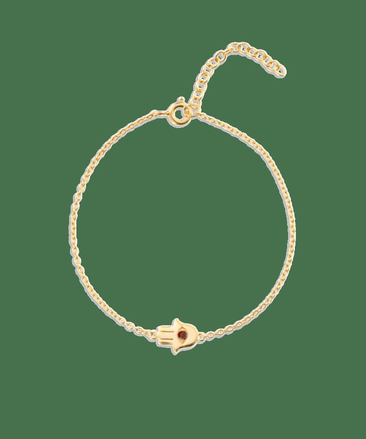 Hamsa Hand Birthstone Bracelet