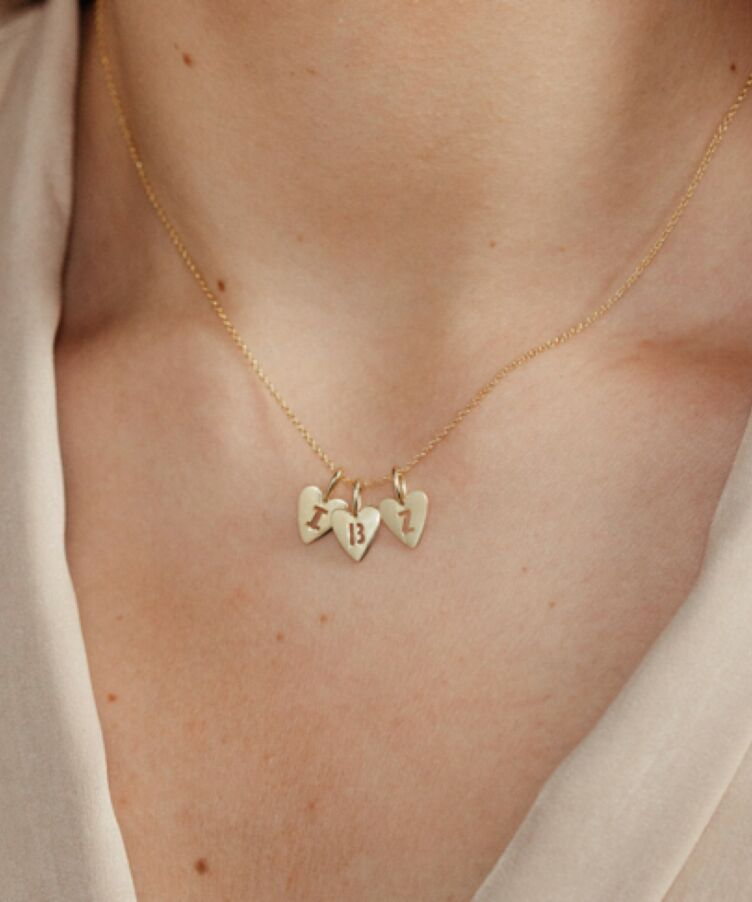 Hannah Heart Letter Necklace