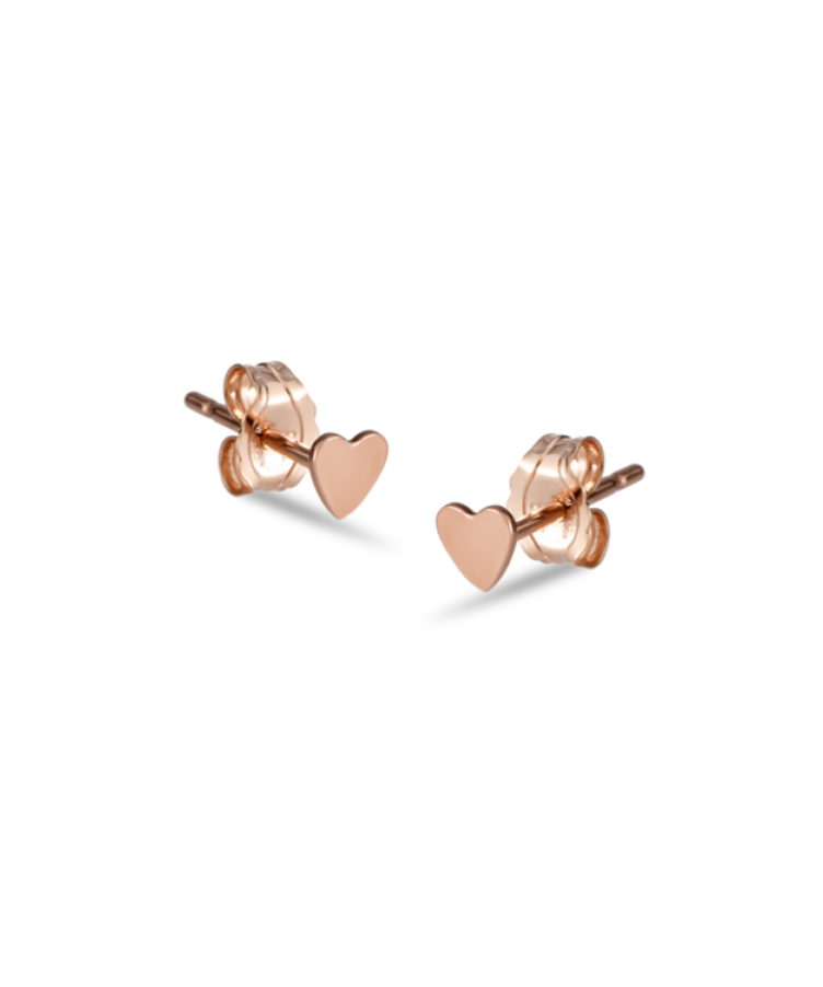 Hailee heart studs rose gold