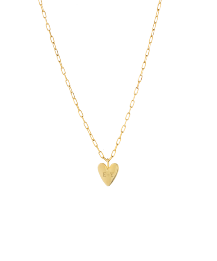 Ruby Rope Letter Necklace goud A