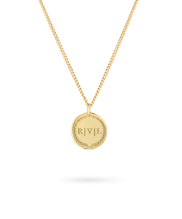 Mother's Day Initial Coin Necklace
