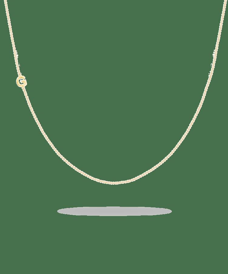 letter necklace goud