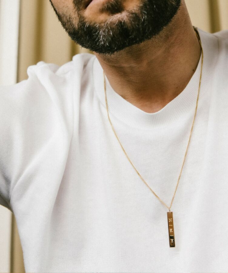 Benny Bar Initial Necklace