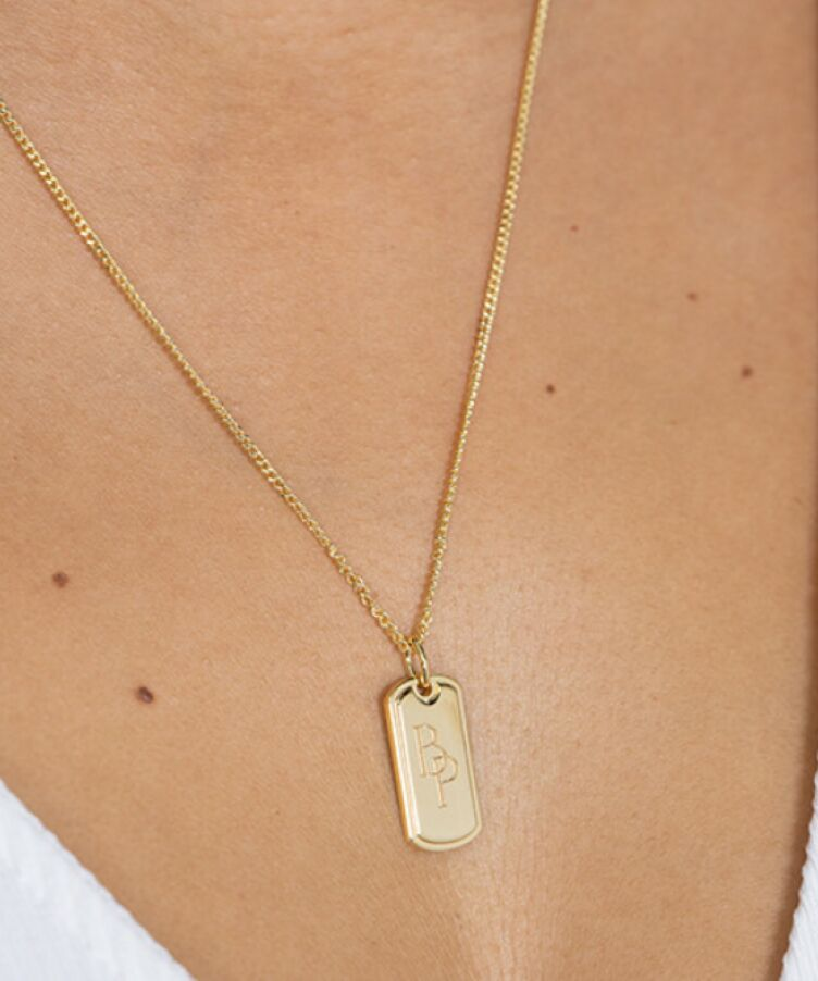 Monogram Tag Necklace