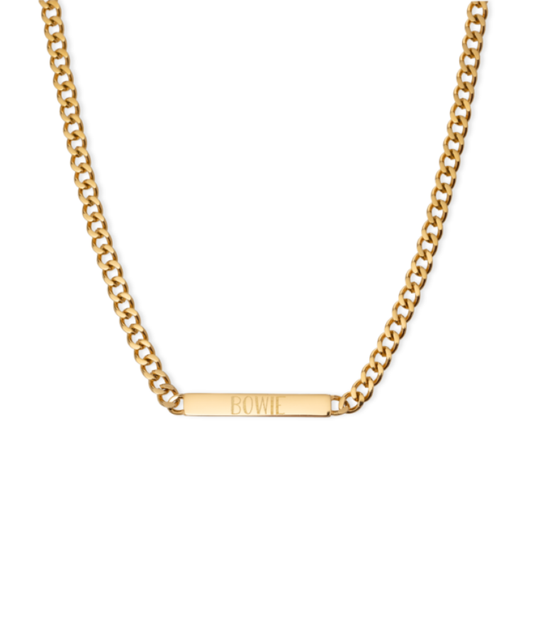 bar necklace goud