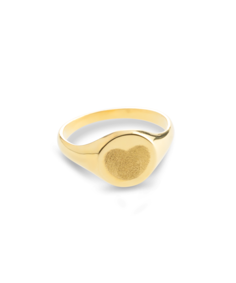 Fingerprint Signet Ring-Solid 9k yellow-19,5
