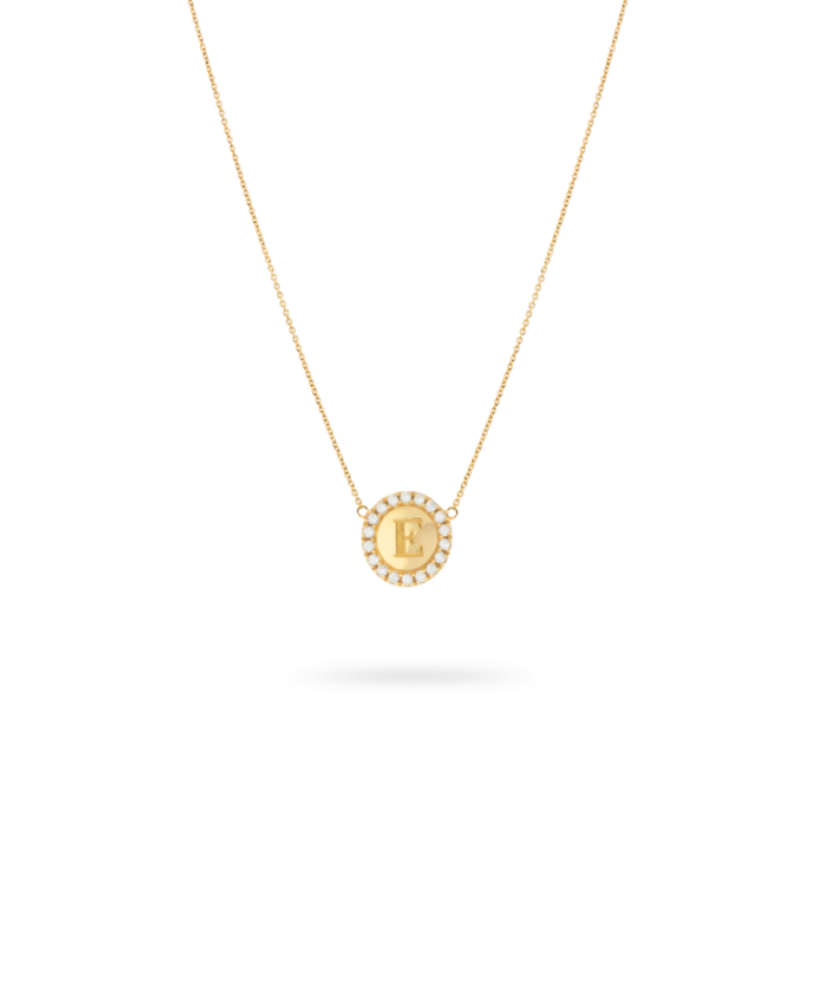 initial necklace by chantal janzen gold
