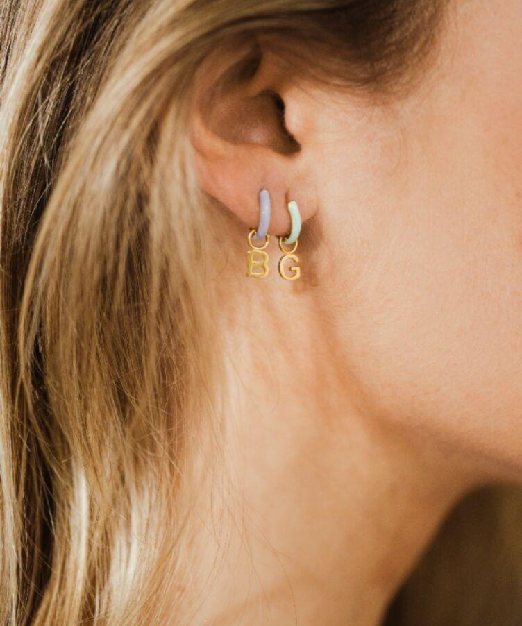 Single Chantal Letter Earring