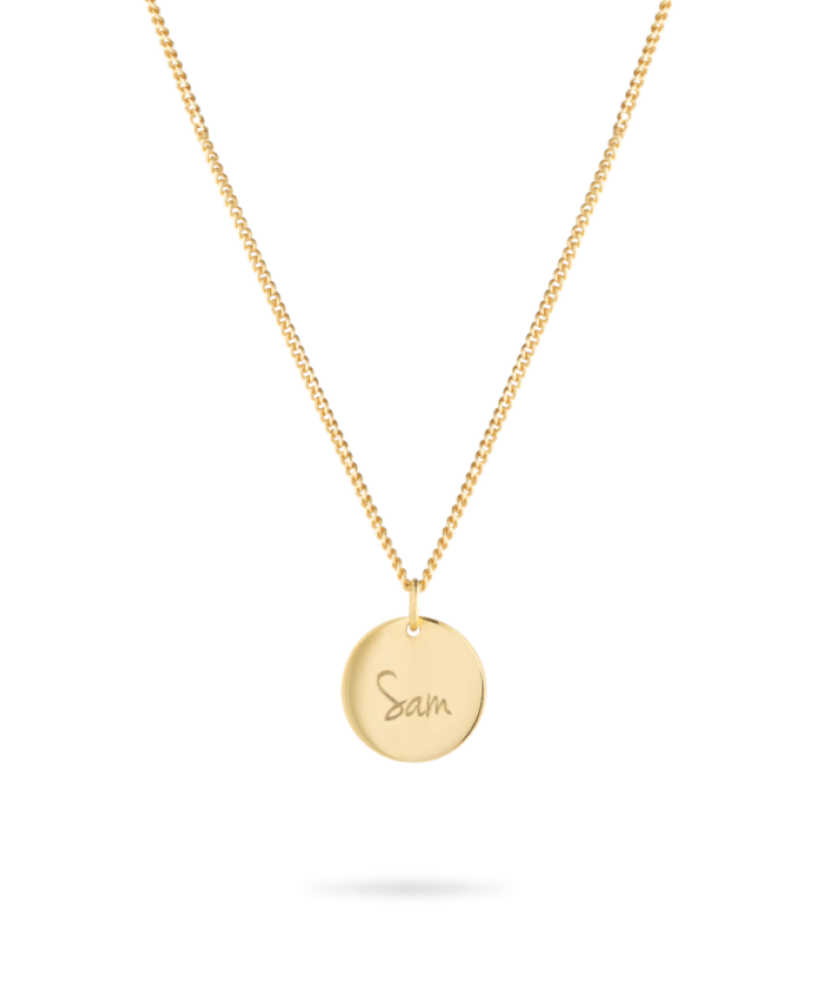 Signature Coin Necklace-Solid 9k yellow-Large: 50 CM